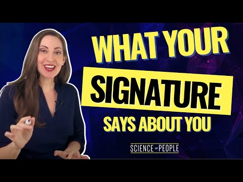 What Your Signature Says About Your Personality
