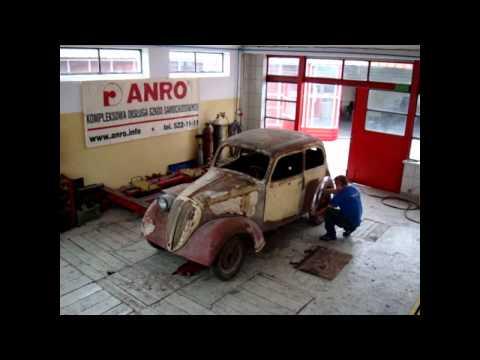 Fiat 508C 1100 Balilla z 1937 roku - Gdańsk - renowacja ANRO www.anro.info