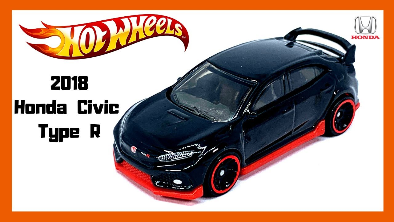 2020 HOT WHEELS 2018 HONDA CIVIC TYPE R IN BLACK W//RED BOTTOM VERY! NICE!!!