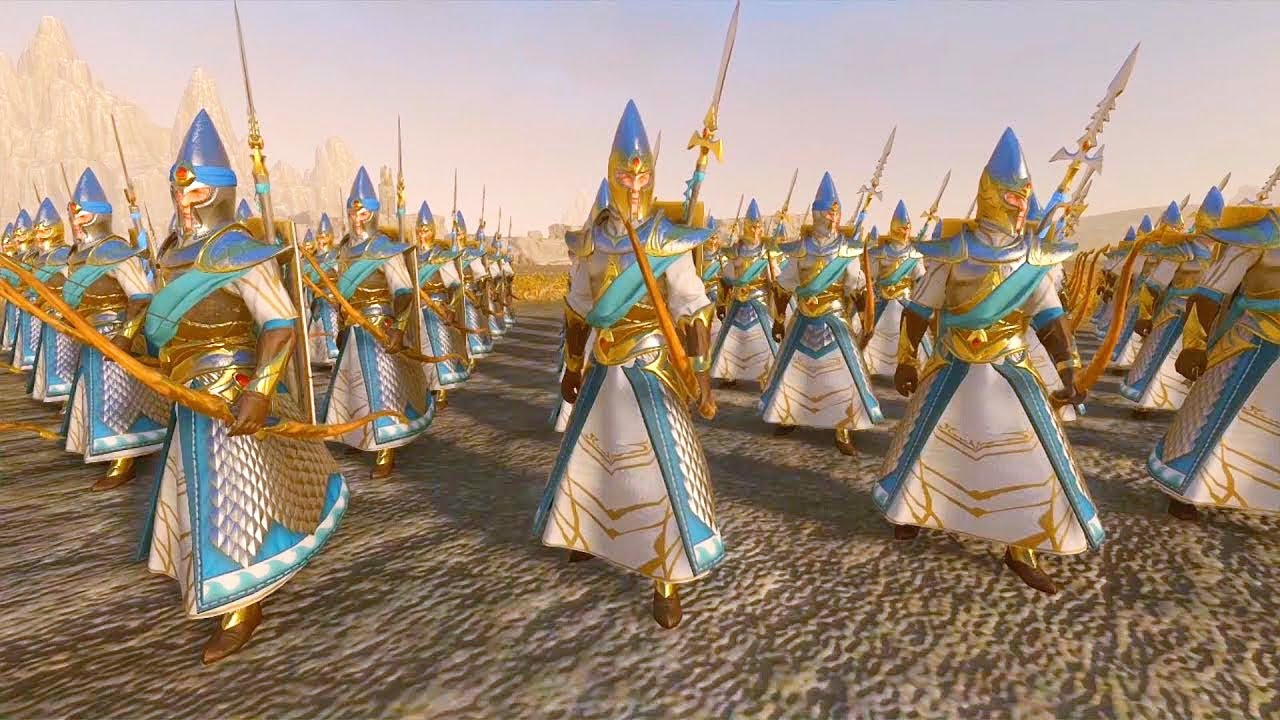Download Lothern Sea Guard(Shields) vs Sisters of Avelorn and Thunderers. Total War Warhammer 2