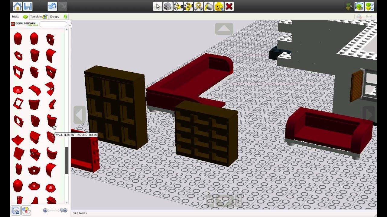 macplay lego digital designer part 5 shelves aren 39 t easy youtube. Black Bedroom Furniture Sets. Home Design Ideas