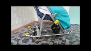 видео санки с колесами