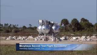 Morpheus Second Free Flight Test at Kennedy Space Center