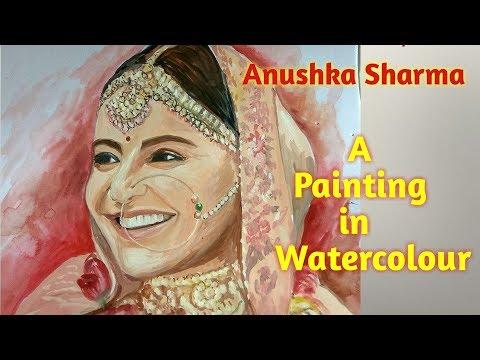 Anushka Sharma || A painting in watercolour