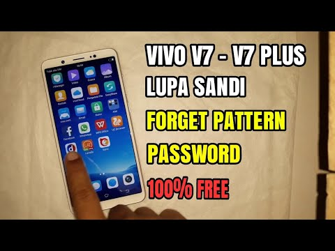 Vivo V7 V7 + Forget Screen Lock  Forget Pattern Password | can not wipe all data factory reset