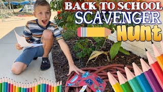 Back to School Shopping Scavenger Hunt!