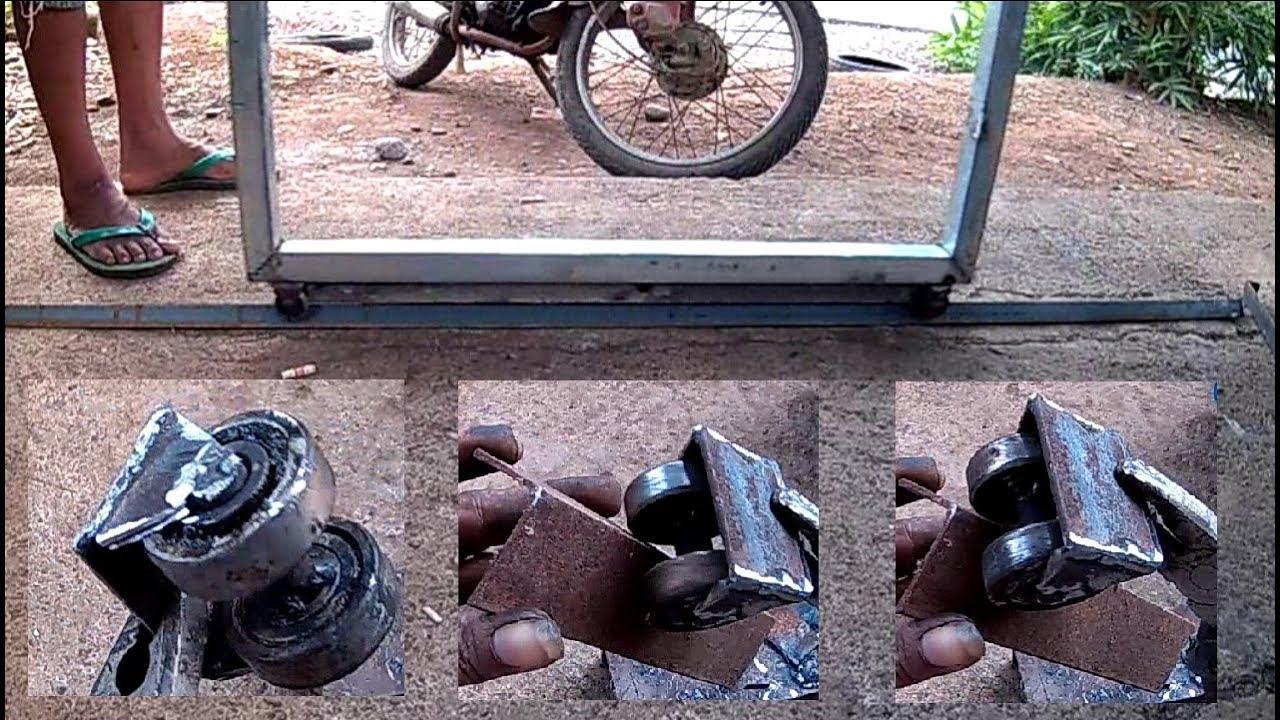 Cara Tips Membuat Pintu Sliding Geser Roda Menggunakan Laher