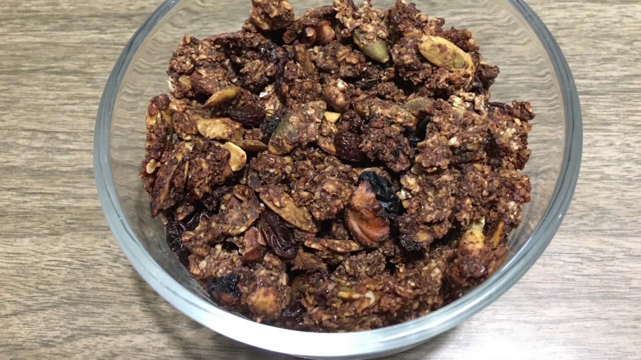Healthy Granola Recipe Quick And Easy Homemade Low Sugar Granola Youtube