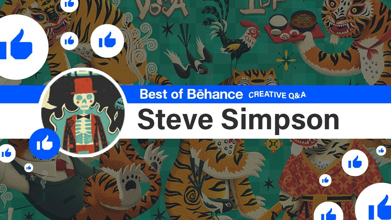 ️ Best of Behance: Creative Q&A ️ with Steve Simpson! - 1 of 1