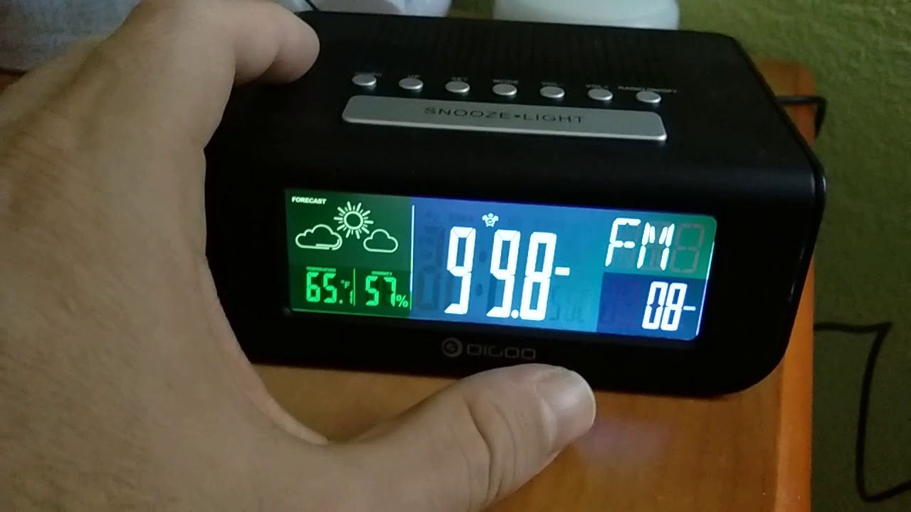 Digoo DG-FR100 Smart wireless digital alarm clock weather forecast ...