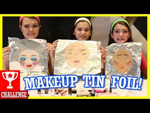 Thumbnail: MAKEUP TIN FOIL CHALLENGE! With That Youtub3 Family!