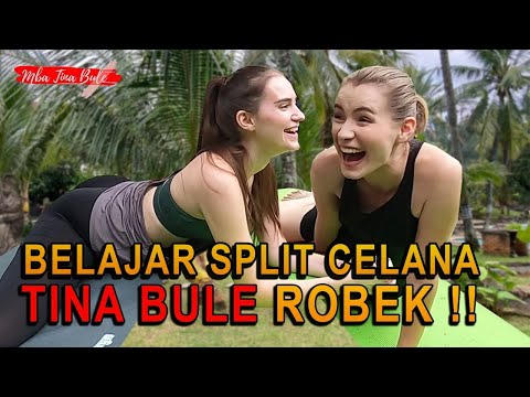 BELAJAR SPLIT CELANA TINA BULE MALAH ROBEK !!!