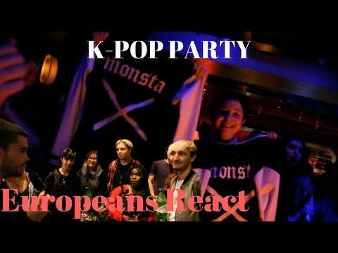 First K-Pop party in Belgium, Brussels! Ft. EXO, BTS, BigBang, BlackPink, CL / 유러피안 케이팝 리액션