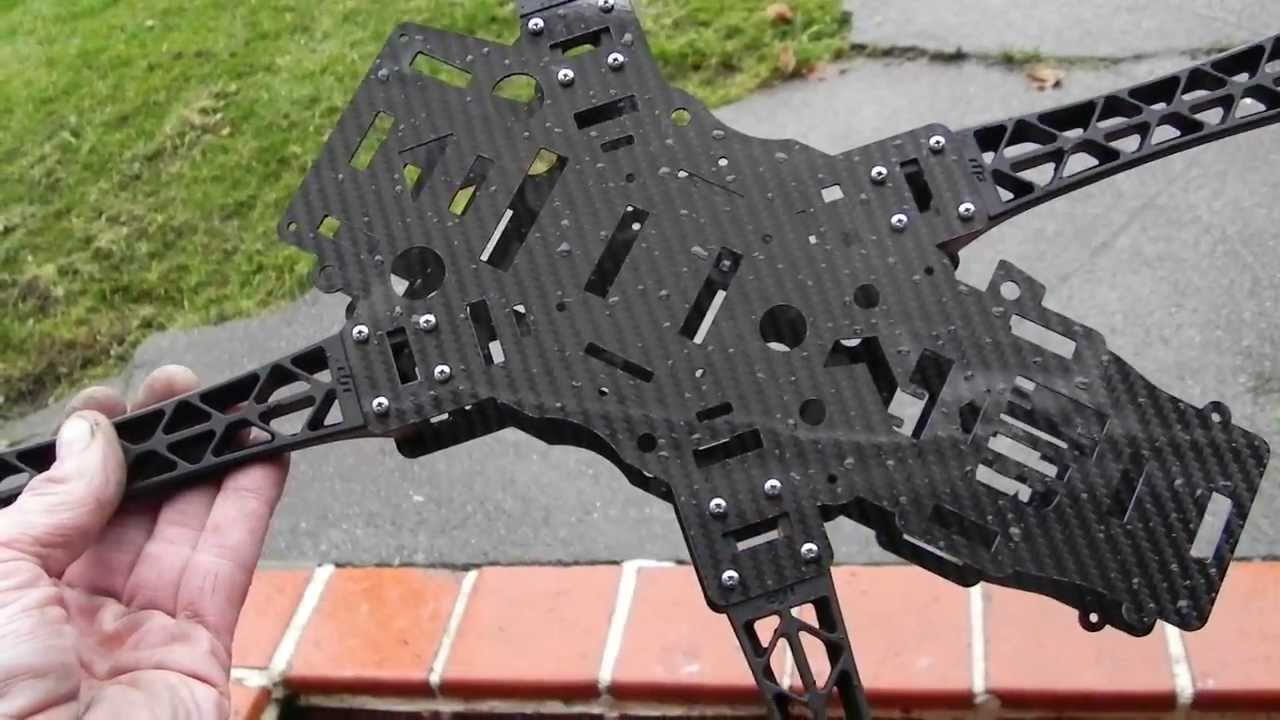 hb7 fpv quadcopter frame 100 finished and ready for dji arms carbon fiber machined