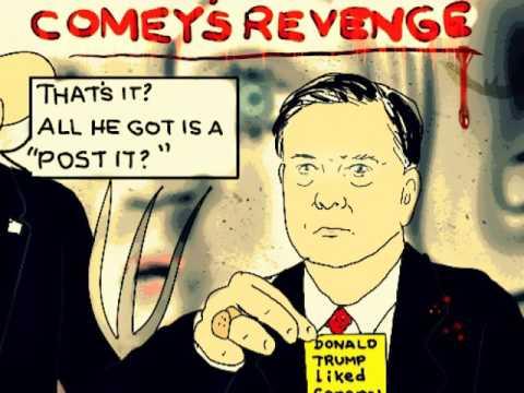 David A. Clarke, JR. DONALD TRUMP James Comey, Political cartoon