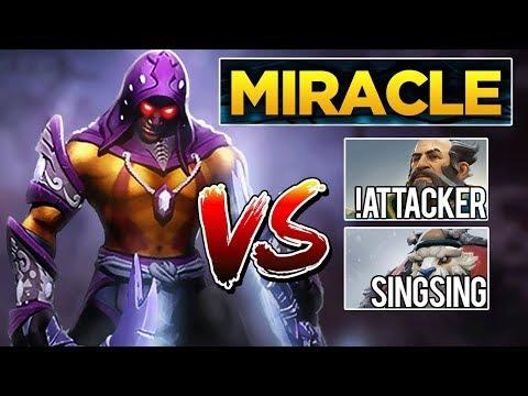 Miracle- Anti-Mage | Liquid Stack vs SingSing + !Attacker