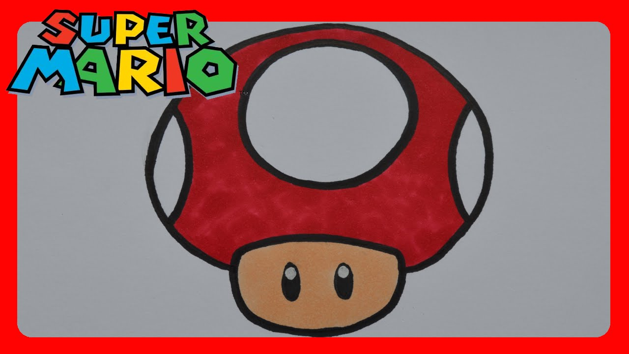 How To Draw Super Mario Bros Mushroom Youtube