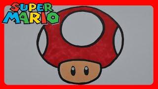 How to Draw Super Mario Bros. Mushroom