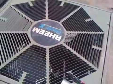 Rheem Air Conditioner Fan / Capacitor DIY Fix vid ...