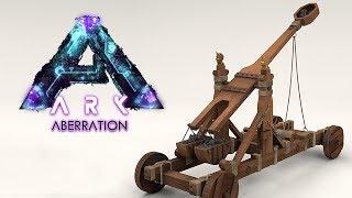 ARK ABERRATION #30 - Construímos a CATAPULTA, vamos derrubar tudo