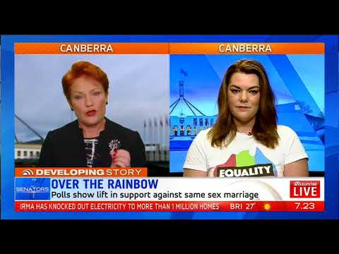 Pauline Hanson on same-sex marriage