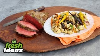 Roast Beef With Balsamic Cauliflower & Carrots