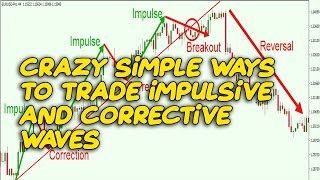 Crazy Simple Ways to Trade Impulsive and Corrective Waves|Impulse Correction Forex Strategy