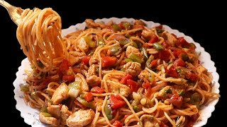 Tasty Spaghetti Recipe - Chicken Vegetable Spaghetti - Homemade Spaghetti Recipe - Spaghetti Recipe