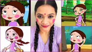THE INDIAN CARTOON CHHOTA BHEEM | CHUTKI INSPIRED | MAKEUP LOOK | Pavithra iyer