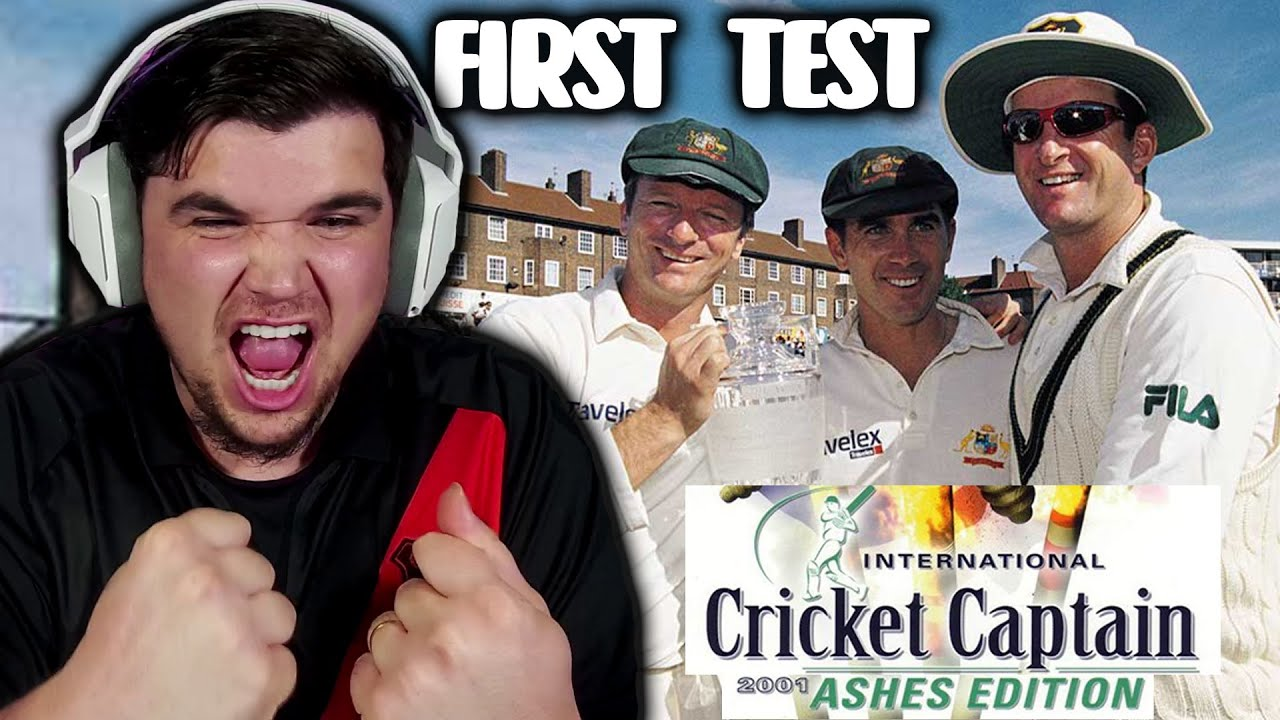 CAN AUSTRALIA WIN THE ASHES? Cricket Captains 2001 PS1 - OLD SKOOL REWIND