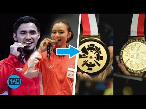 Fakta Dibalik Medali Emas Asian Games 2018 & Kenapa Para Atlet Juara Menggigit Medalinya ?