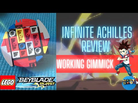 Infinite Achilles Review*WORKING GIMMICK*|Lego Beyblade Reviews