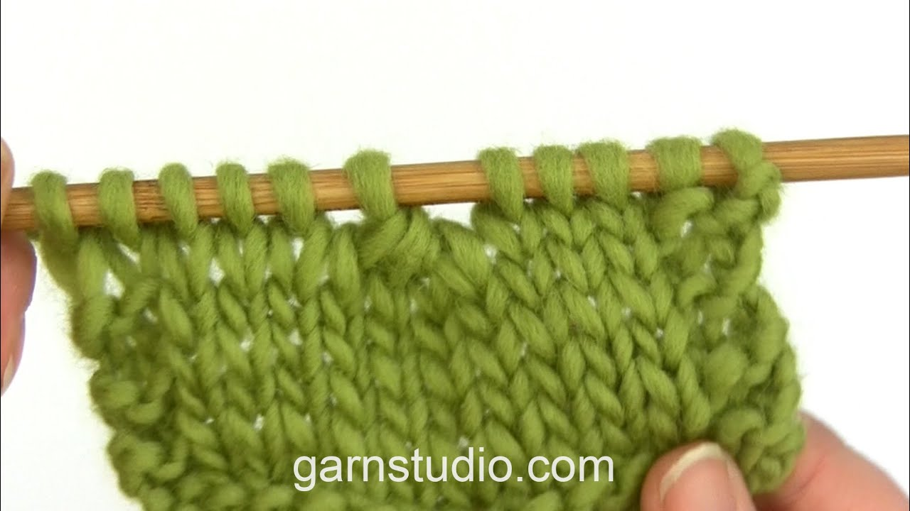 How to knit 4 stitches twisted together (decrease) - YouTube