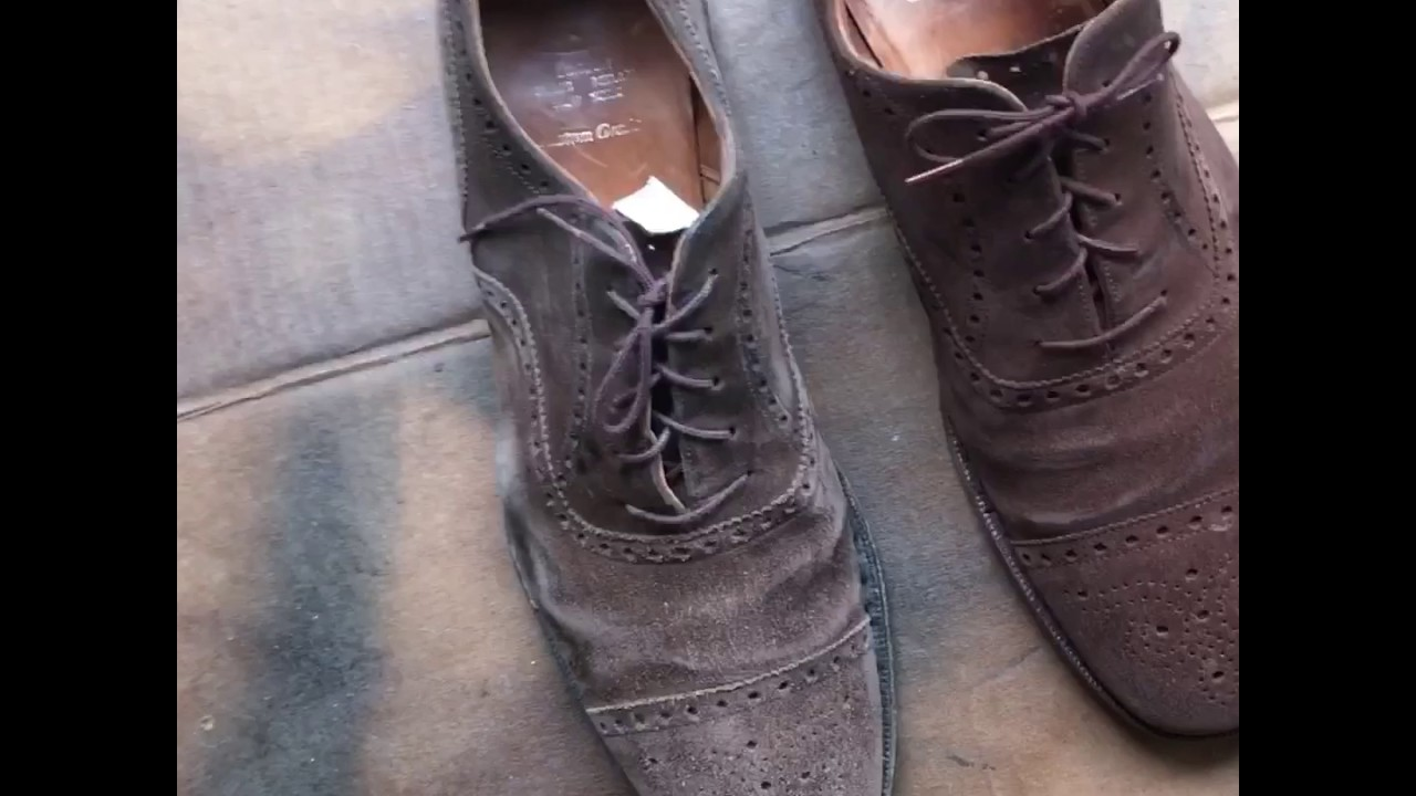 Travelandthrift Suede Shoe Restoration Refurbish Project