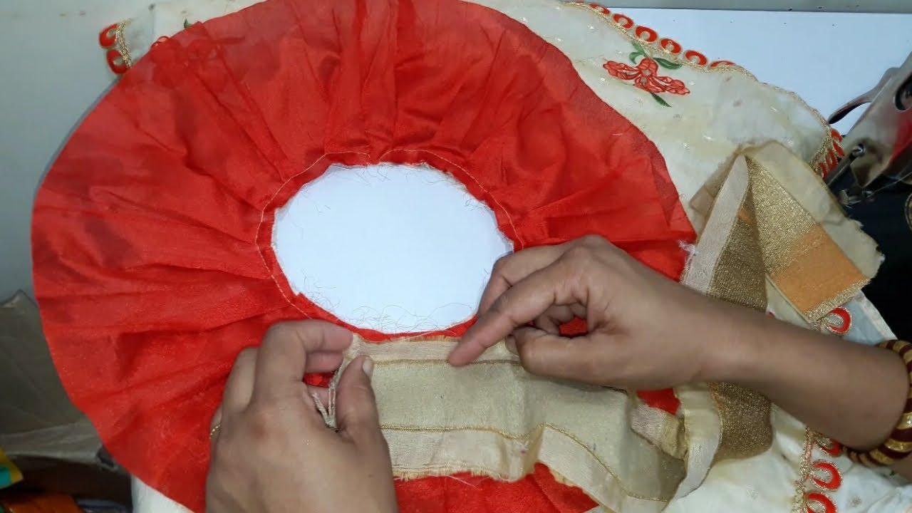 Saree के बचे हुए कपडे में से बनाये Beautiful Baby TOP // By Simple Cutting