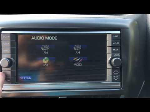 Subaru Impreza G3 Navigation Dealer Diag Menu