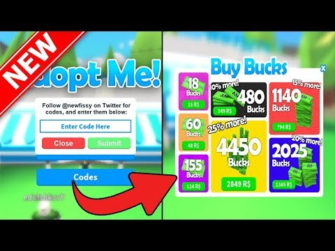 roblox codes for adopt me