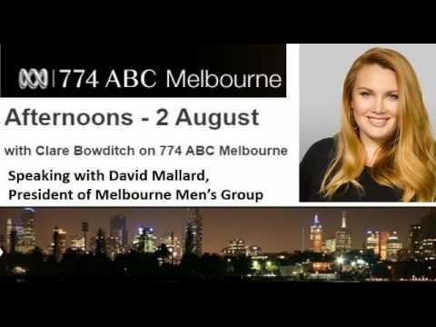 ABC Radio 774 - Clare Bowditch with David Mallard of Melbourne Men's Group