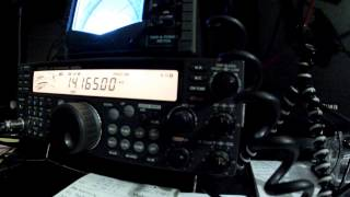 Cobweb Antenna Test. QSO Madrid - México