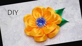 DIY - How to make Kanzashi Flower Satin Ribbon   Bunga dari pita satin