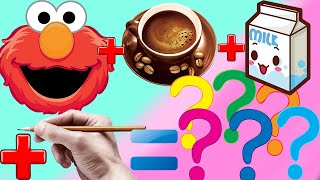 HOW TO DRAW ELMO SESAME STREET ON COFFEE - DRAWING COLORING ELMO SESAME STREET - ART SKILL