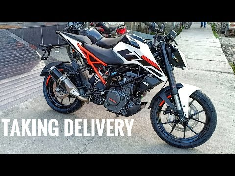 Taking Delivery Of 2019 KTM DUKE 250 ABS | White
