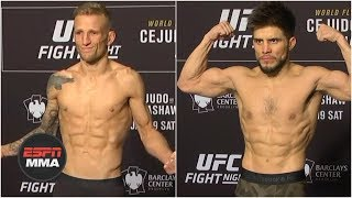 Henry Cejudo, TJ Dillashaw and others weigh-in prior to UFC Fight Night: Brooklyn | ESPN MMA