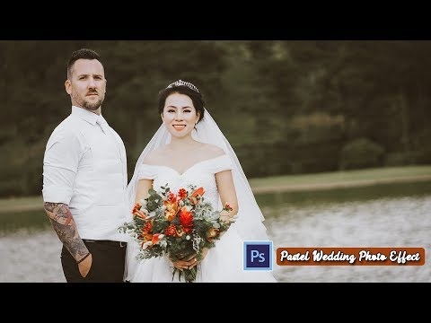Pastel Wedding Photo color Effect in Photoshop CC tutorial thumbnail