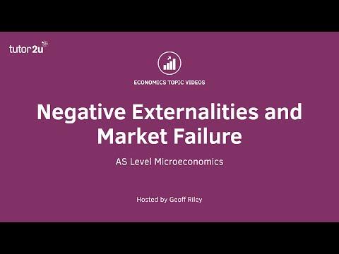 Negative Externalities and Market Failure