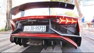 Lamborghini Aventador SV LP750-4 Start Up and Driving Sound