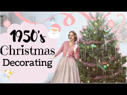 decorating for christmas like a 1950s housewife