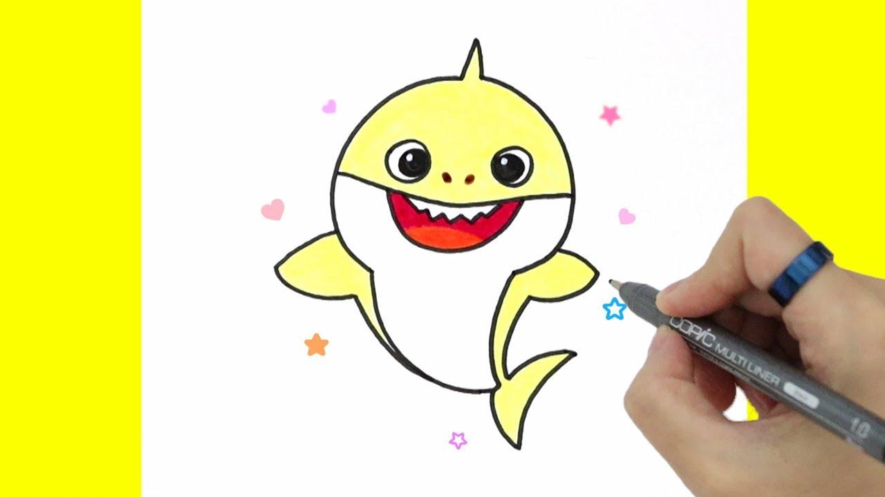 How to Draw Baby Shark #3★아기상어 그리기/핑크퐁 ★손그림 예뿍드로우 YouTube