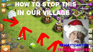 How to turn off the snow falling in clash of clans||Easy steps||IN hindi with tech.tanmay||2018.