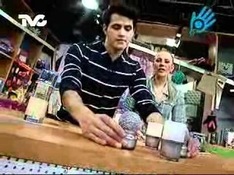 C mo hacer candelabros con frascos ec youtube - Como hacer candelabros ...